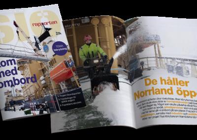 Decenniets första nummer av Sjörapporten besöker bland annat isbrytaren Frej när hon ligger i beredskap uppe i Luleå.